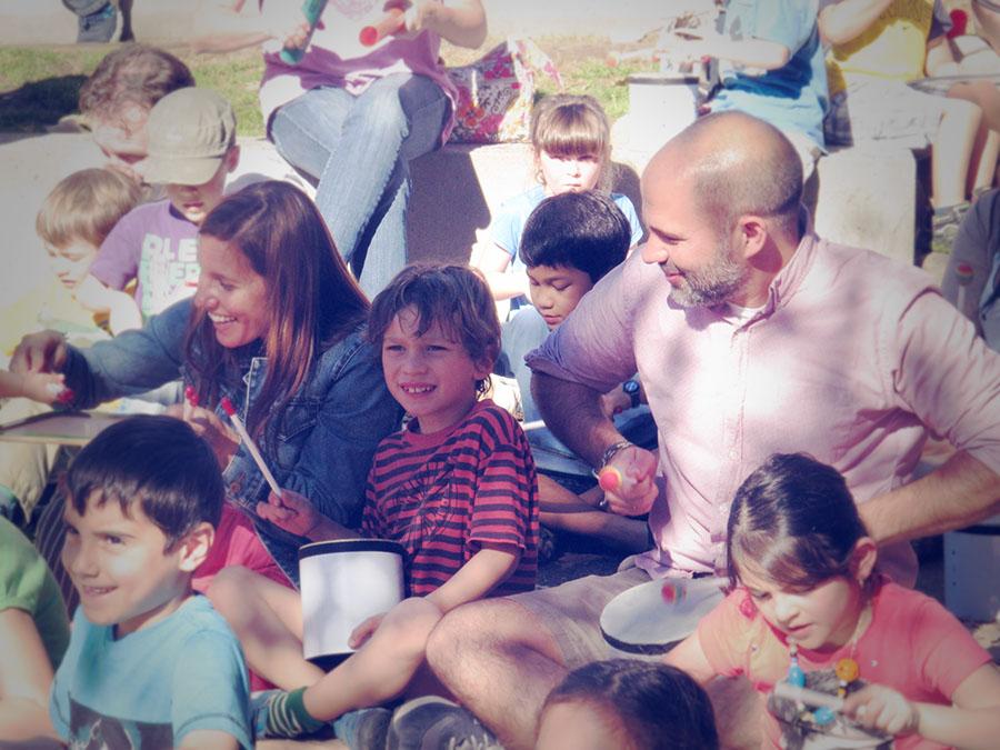 Family-drumming